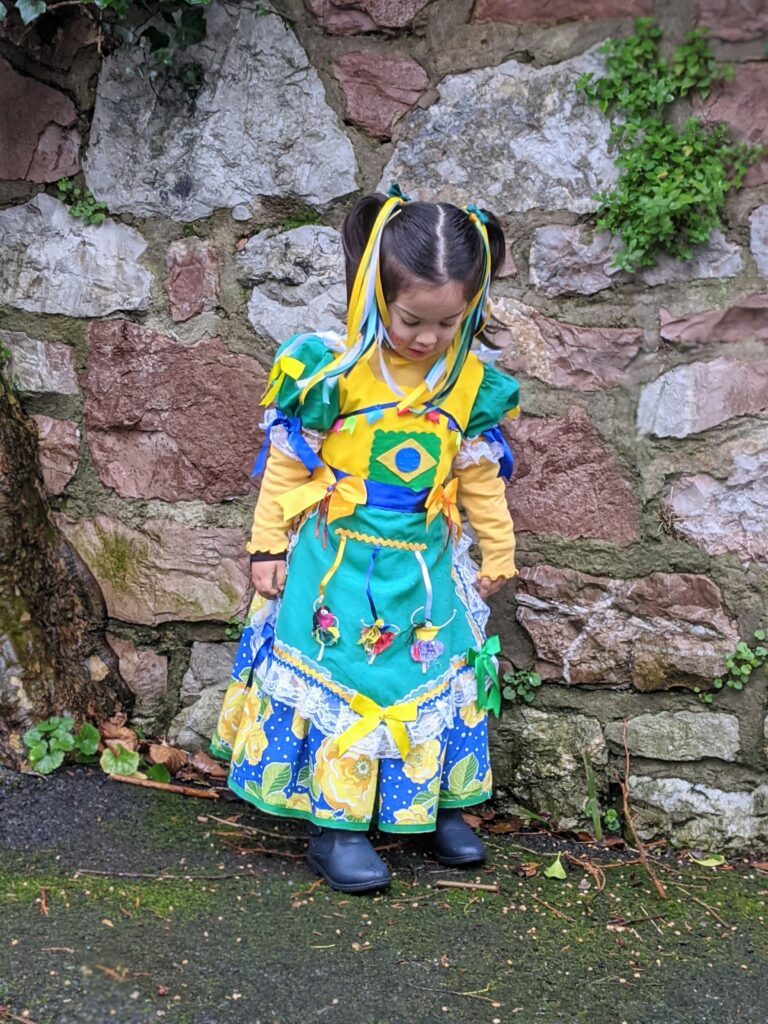 vestido festa junina bandeira do brasil