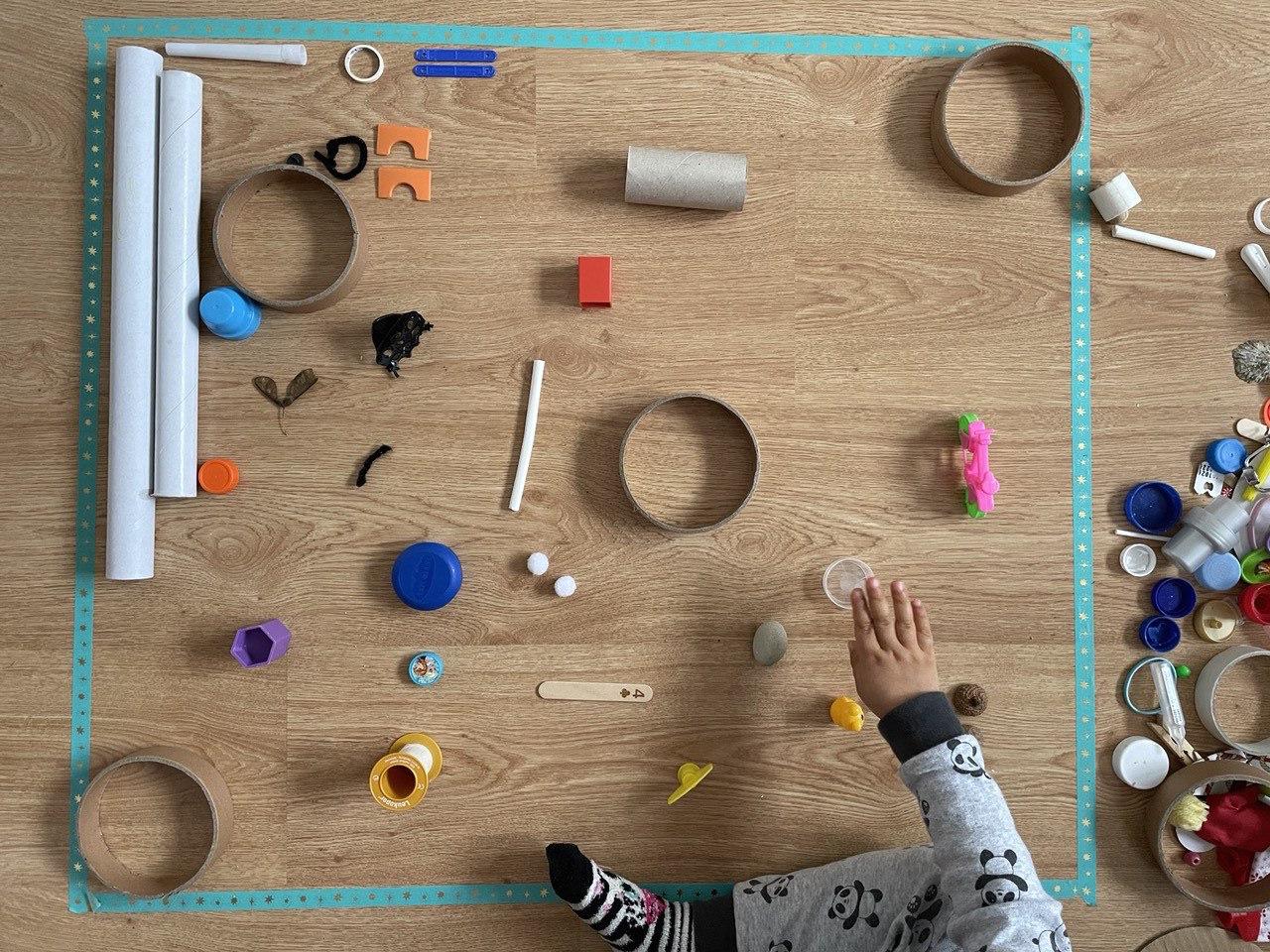 arte com material reciclado