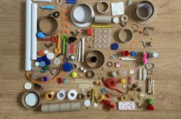 atividade de arte reciclada