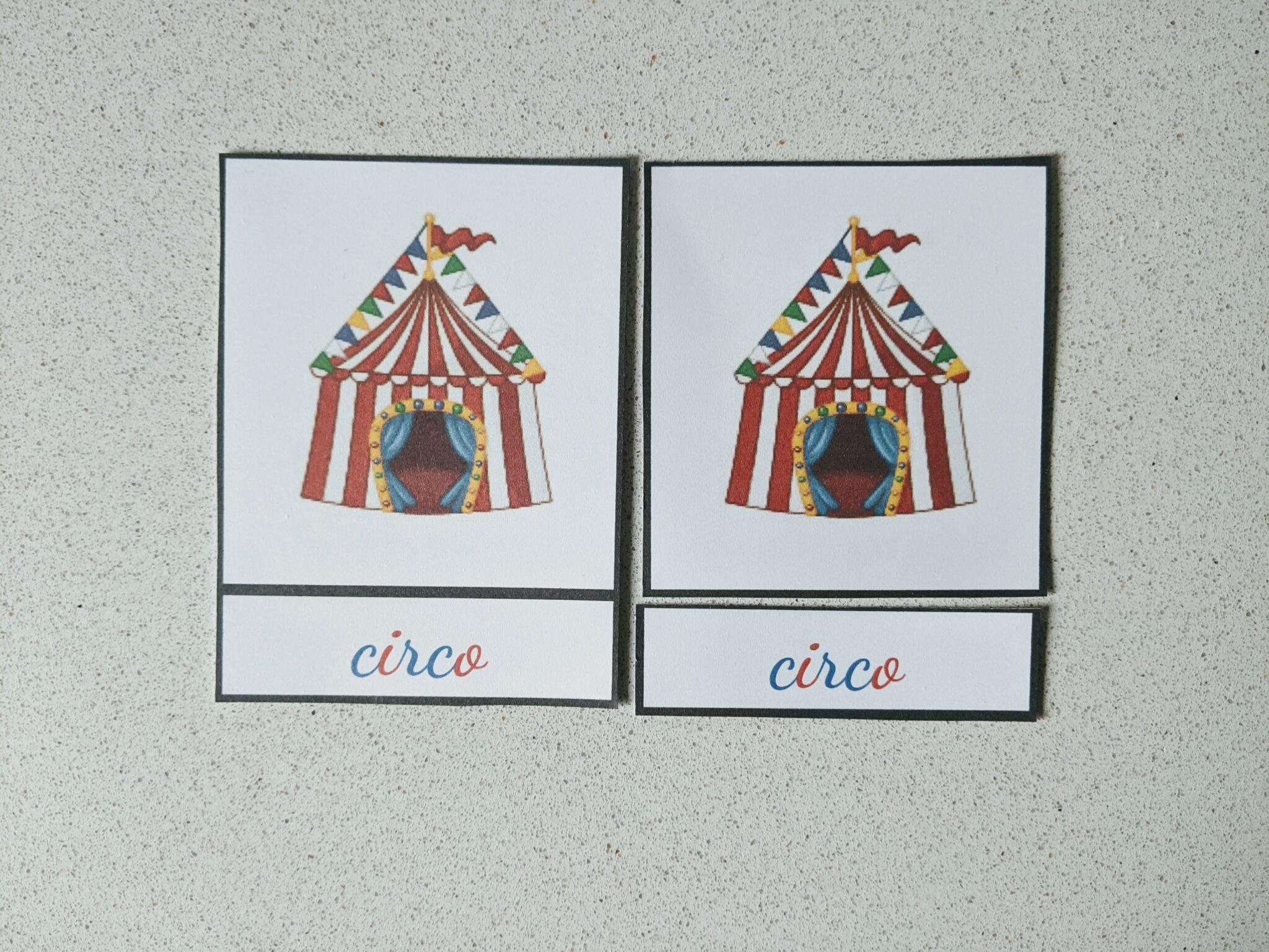 atividade de linguagem para o dia do circo