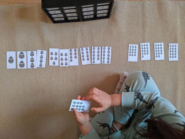 atividade de numeros e quantidades para a pascoa