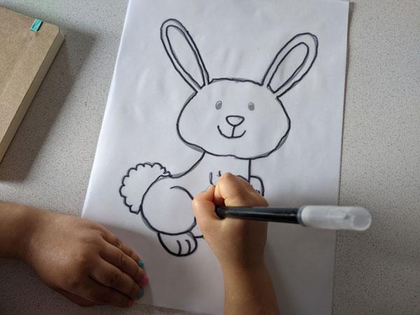 atividade de pascoa para desenhar