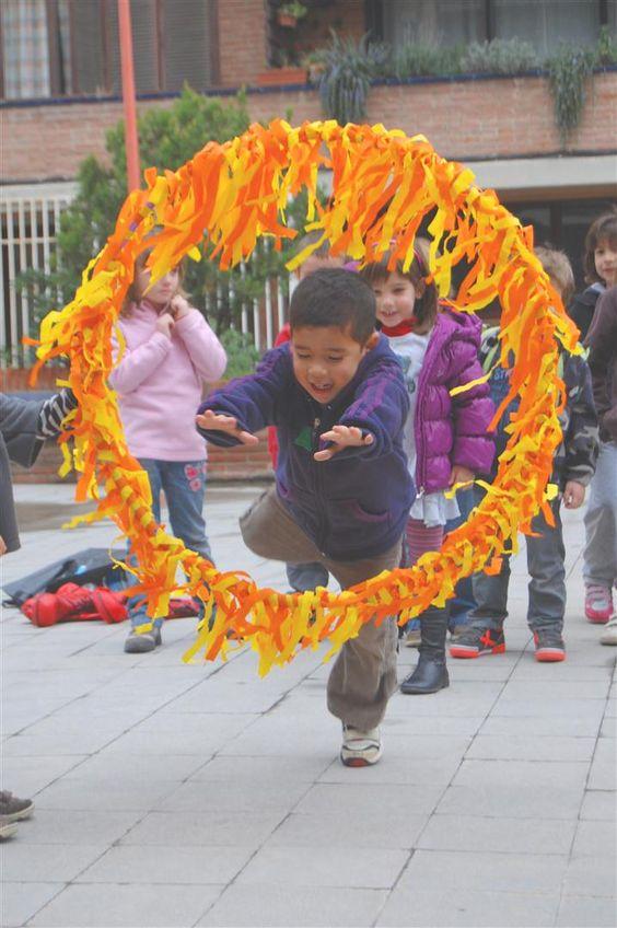 atravessar um aro em chamas atividade circense