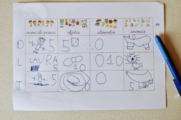brincadeira adedonha no papel com desenhos