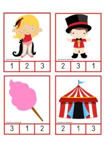 numeros e quantidades dia do circo