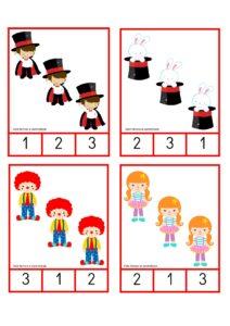 numeros e quantidades dia do circo educacao infantil