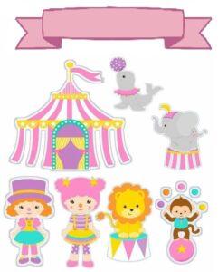 personagens do circo para criancas