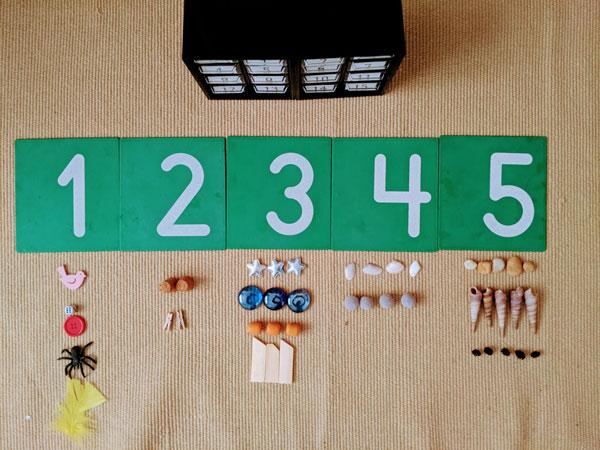 relacionar numeros e quantidades