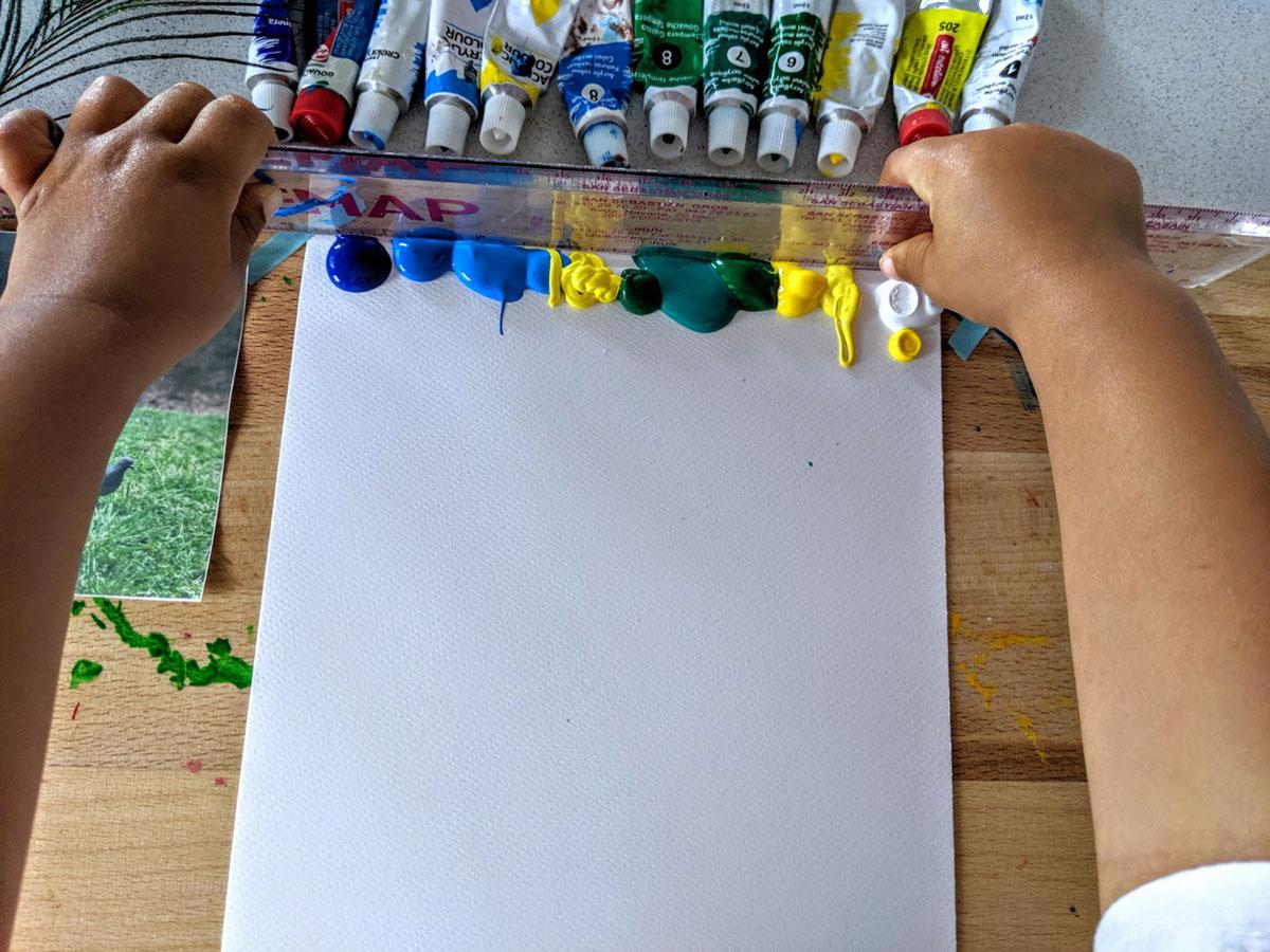 Atividade de pintura cores sem misturar