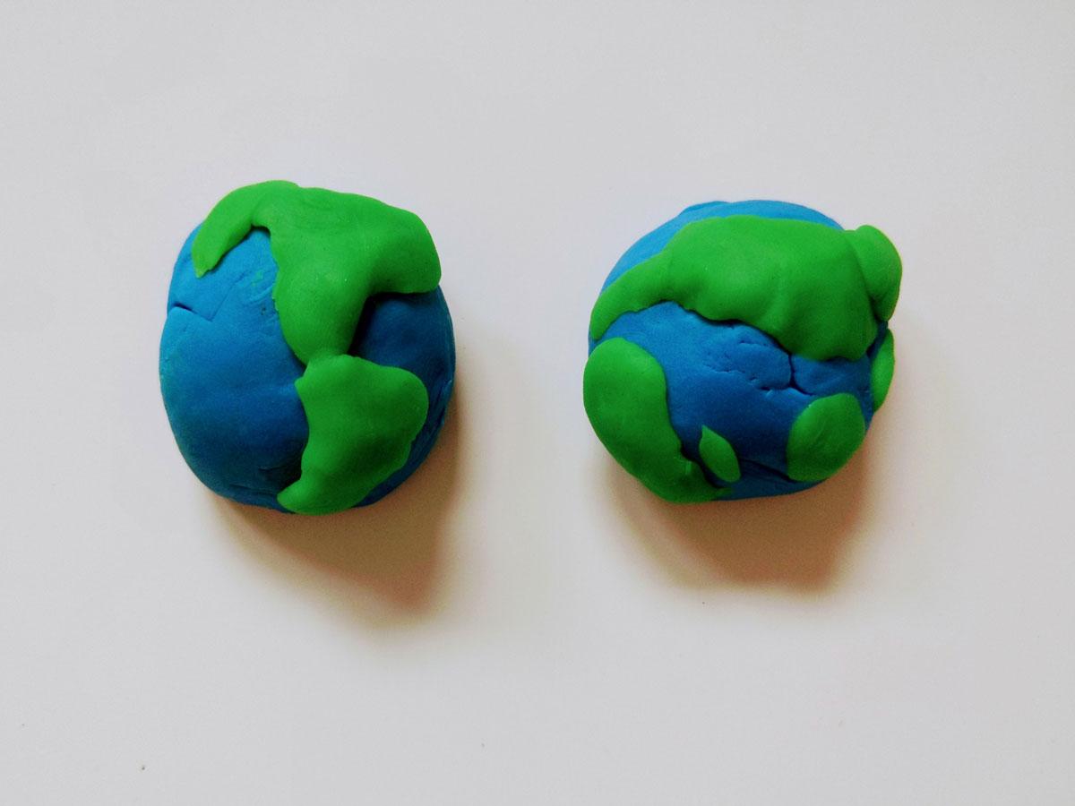 Atividade globo terrestre com massinha