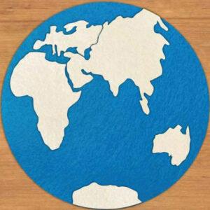 Mapa planisfério