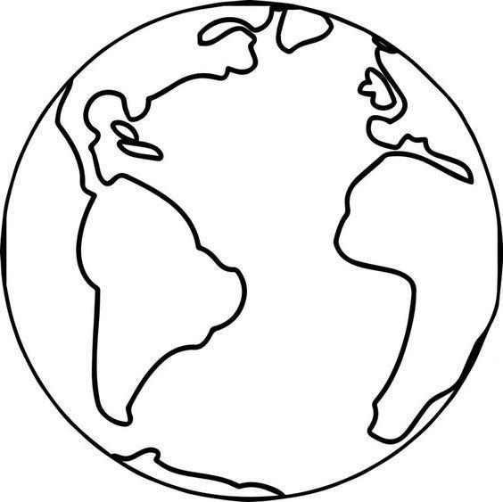 molde do planeta terra