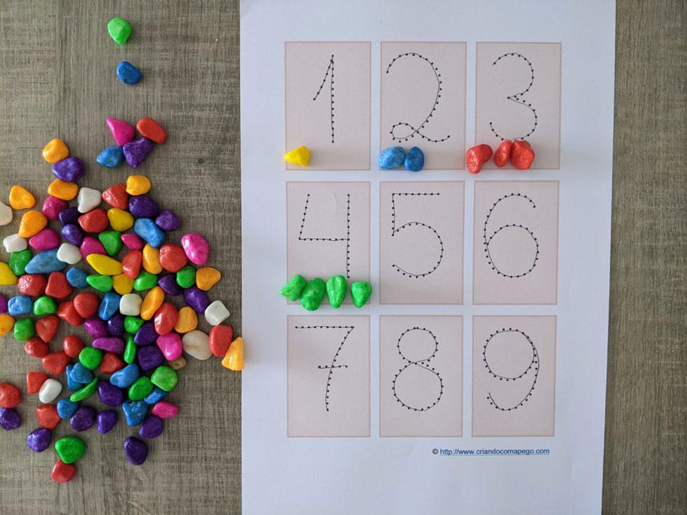 numerais pontilhados para imprimir