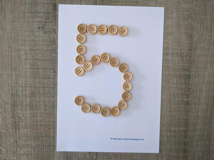 numero 5 pontilhado para imprimir 01