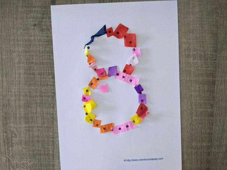 numero 8 pontilhado para imprimir 01