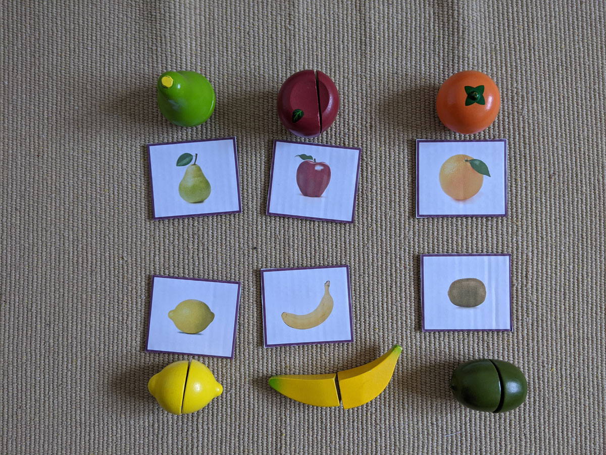 Atividade com frutas para crianças