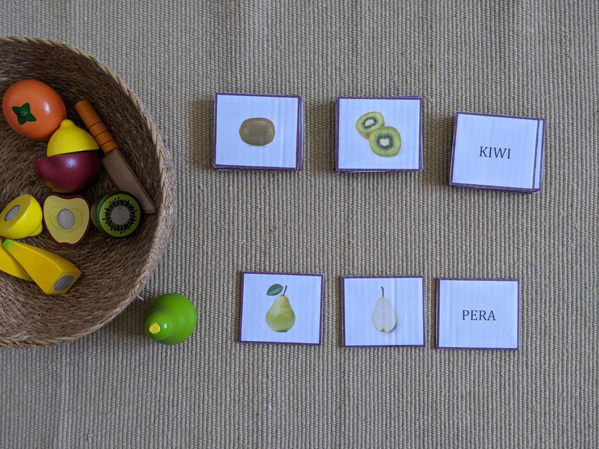 Atividade com frutas