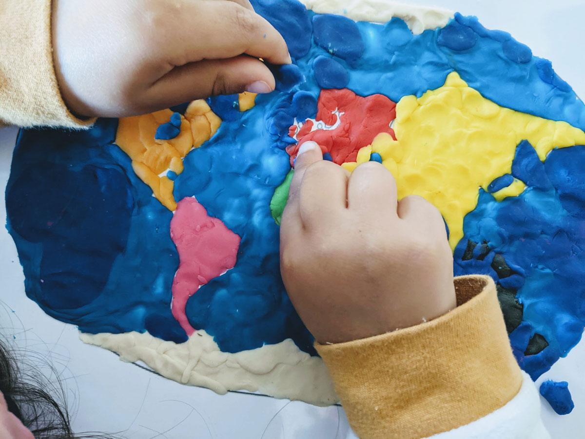 Atividade mapa do mundo para Educação Infantil