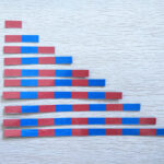 Barras vermelhas e azuis