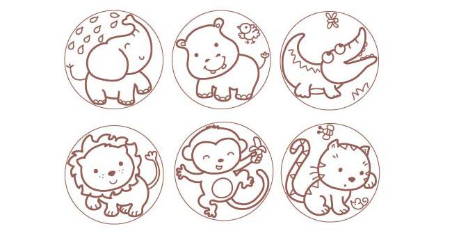 Jogo de memória de animais para imprimir e colorir